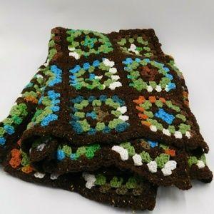 Hand Crochet Granny Square Fall Throw